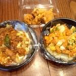 富華 - 回鍋丼、鳥唐揚げ、鶏肉ピリ辛炒め丼