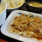 松屋 - スタミナ豚バラ生姜焼定食(ライス大盛)
