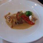 マル・マーレ - 魚料理のランチメイン、唐戸フグのベーコン巻き