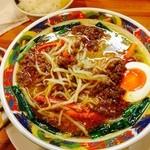23452235 - 台湾風旨辛味噌白湯  ちょっと肉味噌を崩してしまったのちの写真