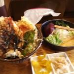 23461006 - えび天丼セット(冷たいきつねうどん)1300円
