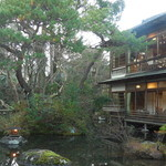 新井旅館 - 宿泊した客室を対岸から見る