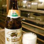 新井旅館 - 湯上りのビール