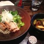 23462444 - 豚肉と野菜のつけそば@1000円