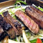 23462468 - 「特上牛ステーキ膳・上赤身肉100g」のメイン