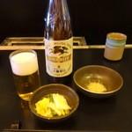 とんかつ 一富士 - ビール大瓶650円