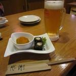 JIN - 突き出し&オリオンビール☆