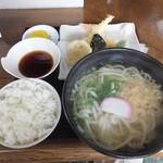 おかめ - 【天ぷらうどん定食】