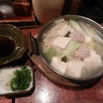 鳥八 - 生つくね入り湯豆腐