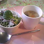 ファルファッレ - Aセット サラダ・スープ