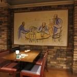 レストラン アサヒ - 壁の絵です。