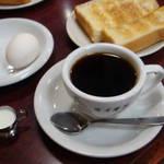 コーヒー専門店 ライオン - トースト&ドリンク&ゆで卵