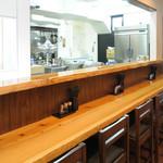 麺や七福 - スタッフとお客様が、気軽に会話を楽しめます