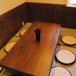 麺や七福 - 座敷席で足を伸ばして、じっくりとラーメンをご堪能ください
