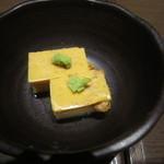 牡蠣屋うらら - 突き出しの雲丹豆腐
