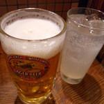 ホルモン本舗 じゅうじゅうぼうぼう - 生ビール&ゆずサワー