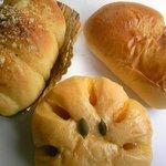 マンダリン - ウィンナーロール、かぼちゃあんぱん、クリームパン