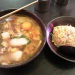 23481022 - Cセット(ラーメン+小炒飯+カラアゲS=3コ)¥1000