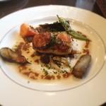 TAGEN DINING CAFE - 鮮魚とラタトゥイユのクレピネット包み焼きバルサミコと生姜のソース グリル野菜添え