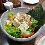 鳥ざんまい - 豆腐じゃこサラダ