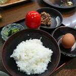 鳥ざんまい - 釜炊き銀舎利卵かけご飯