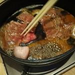 肉料理ひら井 - いい感じになったら返してジュージュー