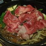 肉料理ひら井 - 沸いてくると全体がしんなりします