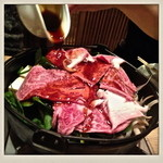 肉料理ひら井 - 補充の割下も用意されています
