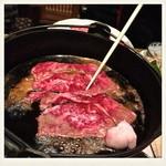 肉料理ひら井 - 大きさも厚みもあるので焼いてもボリューム感があります