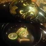 京料理 卯柳 - ふぐ炙りのお吸い物。柔らかいふぐとほんのり強くないおだしがシンプルにまとまっていました