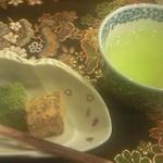 京料理 卯柳 - 京懐石 鴨川(10500円コース)のデザートはわらびもち。大変よろしゅうございました。