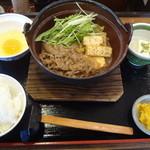 街かど屋 - すき鍋定食 870円