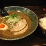 自己流ラーメン綿麺 - 和風ラーメン(700円)+ごはん大(200円)