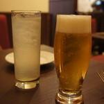 23491869 - 生ビール550円・レモネード420円
