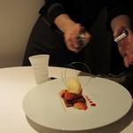 レストラン ラ フィネス - 福岡よりアマオウのタルトレット クレームブリュレを添えて