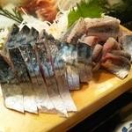 かわなみ鮨 - 〆鯖、鰯刺身
