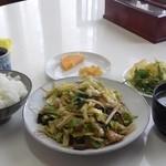 龍園 - 料理写真:野菜炒め定食(850円)