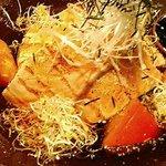 魚和食 浜菜虎 - 北海鮭の焼きしゃぶと法蓮草のスープサラダ