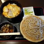 蕎麦由々 金王庵 - 半丼とミニそば選べるセットメニュー(A・1) 850円 + 丼大盛り 100円