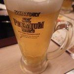 個室焼鳥酒処 こはね ~離れ~ - ビールはプレモルでした