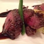 ビストロ ケー - ハラミ肉のアップ