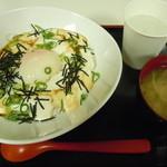 豆腐茶屋がんこ - タイムサービス時に伺ったので お味噌汁サービスに♪