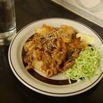 福太郎 - 焼酎水割りと豚キムチ