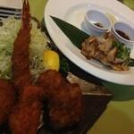 文化亭 - ミックスフライと奥三河鶏のグリル