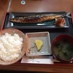 23510219 - 焼き魚定食!この日はサンマ