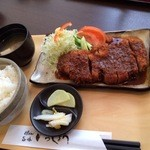 いっしょう - 味噌カツ定食840円