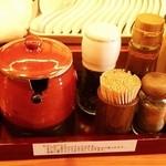 一陽軒 - 料理写真:胡椒・辛味噌など