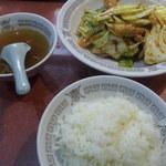 銀座亭 - 回鍋肉定食990円