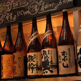 多彩な日本酒、焼酎、日本ワイン