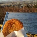 谷本蒲鉾店 - 料理写真:じゃこカツ(バックには松山平野が広がります。)